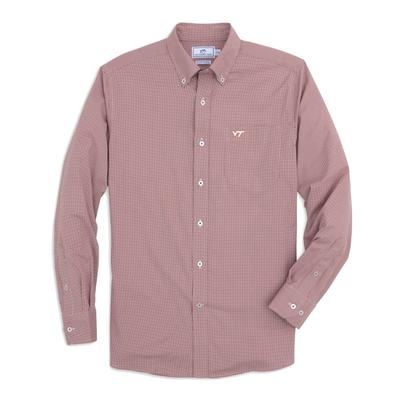Virginia Tech Southern Tide Men's Intercoastal Gingham Sport Shirt