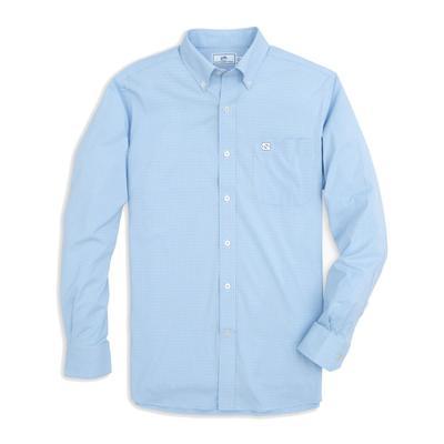 UNC Southern Tide Men's Intercoastal Gingham Sport Shirt