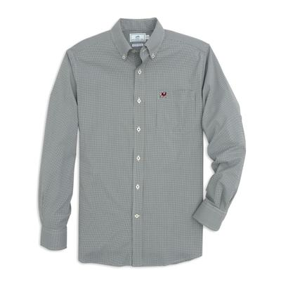 Georgia Southern Tide Men's Intercoastal Gingham Sport Shirt