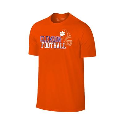 Clemson Men's Football with Side Helmet Tee