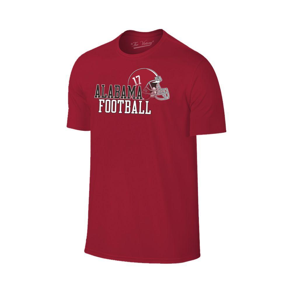 Alabama Men's Football With Side Helmet Tee