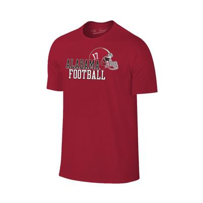 Alabama Men's Football with Side Helmet Tee