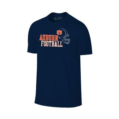 Auburn Men's Football with Side Helmet Tee