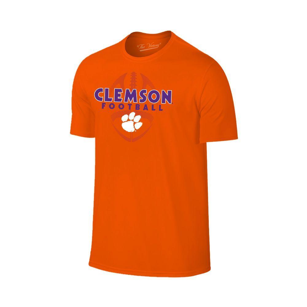 Clemson Men's Football Vertical Ball Tee