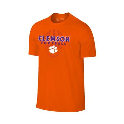 Clemson Men's Football Vertical Ball Tee
