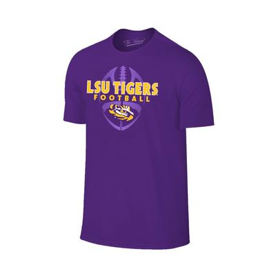 LSU Men's Football Vertical Ball Tee
