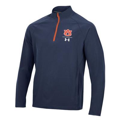 Auburn Under Armour Men's Squad Coaches 1/4 Zip Long Sleeve Pullover NAVY