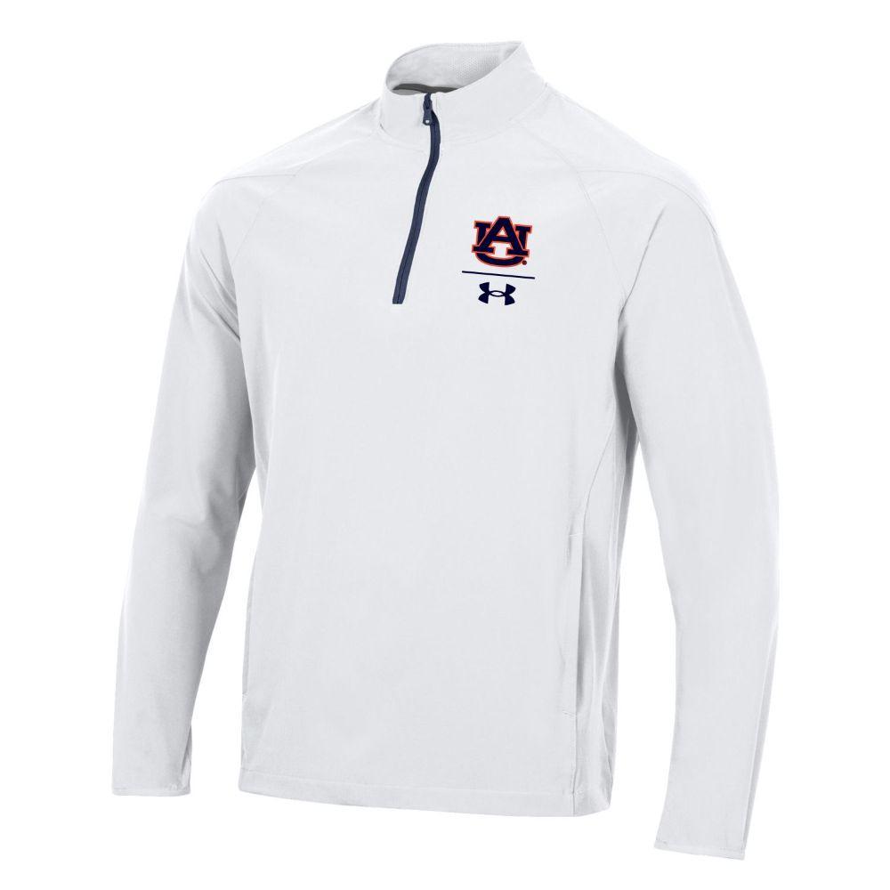 Auburn Under Armour Men's Squad Coaches 1/4 Zip Long Sleeve Pullover
