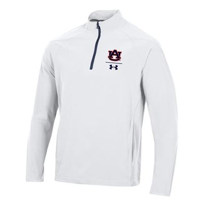 Auburn Under Armour Men's Squad Coaches 1/4 Zip Long Sleeve Pullover