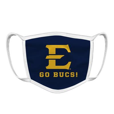 ETSU Logo Go Bucs Face Mask