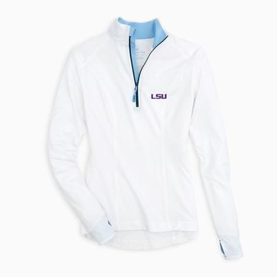 LSU Southern Tide Women's Skipjack Athletic 1/4 Zip Pullover