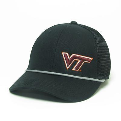 Virginia Tech Legacy Men's Lo-pro Left Hit Rope Trucker Adjustable Hat