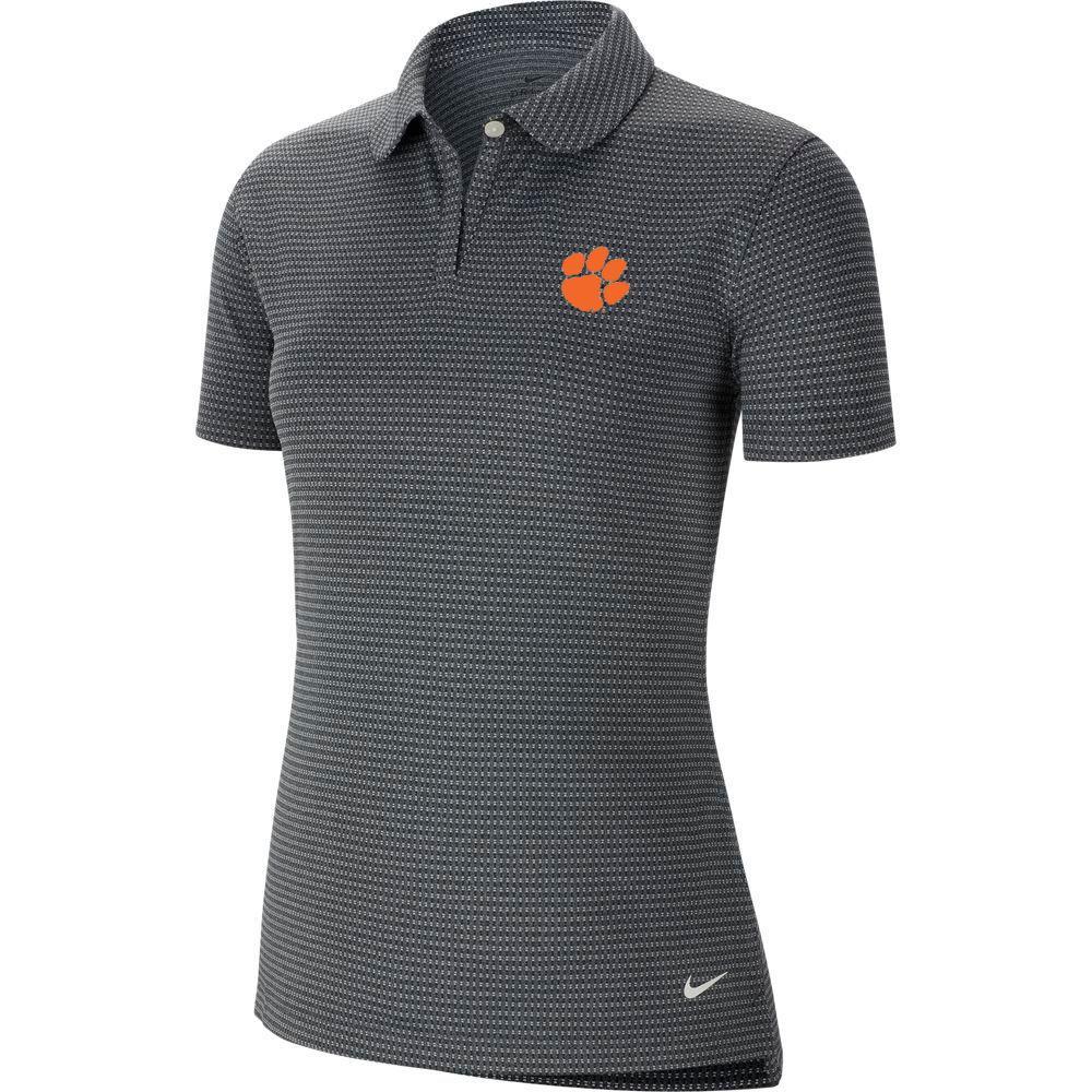 Clemson Nike Golf Women's Victory Texture Paw Logo Polo