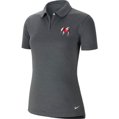 Georgia Nike Golf Women's Victory Texture Standing Bulldog Polo
