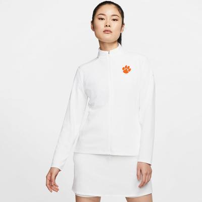 Clemson Nike Golf Women's Victory UV Full Zip Paw Logo Pullover