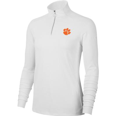 Clemson Nike Golf Women's Victory UV 1/4 Zip Paw Logo Pullover