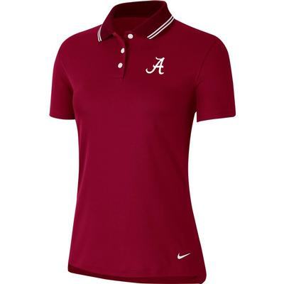 Alabama Nike Golf Women's Victory Solid Script A Polo