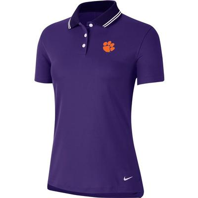 Clemson Nike Golf Women's Victory Solid Paw Logo Polo