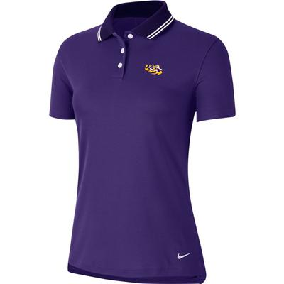 LSU Nike Golf Women's Victory Solid Tiger Head Polo