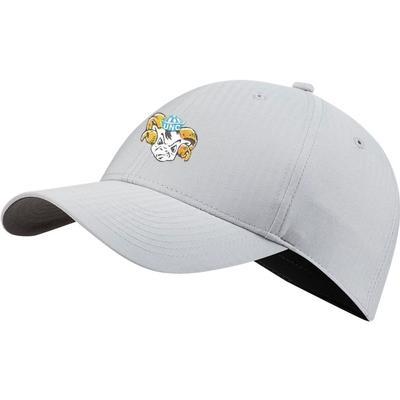 UNC Nike Golf Men's Vault L91 Ram Head Tech Adjustable Hat WOLF_GREY