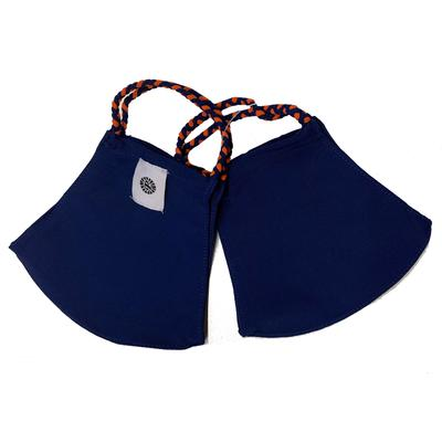 Solid Navy and Solid Orange Pomchies Face Mask (2 Pack)