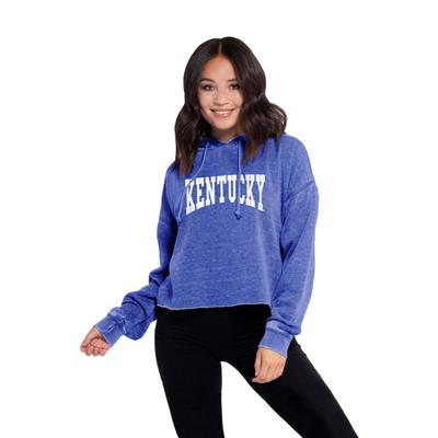Kentucky Chicka-D Women's Campus Cropped Jumbo Squeeze Hoodie