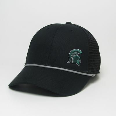 Michigan State Legacy Men's Lo-Pro Left Hit Rope Adjustable Trucker Hat