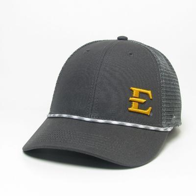 ETSU Legacy Men's Lo-Pro Left Hit Rope Adjustable Trucker Hat DK_GREY