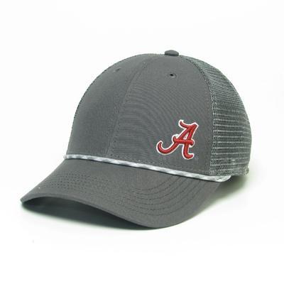 Alabama Legacy Men's Lo-Pro Left Hit Rope Adjustable Trucker Hat DK_GREY