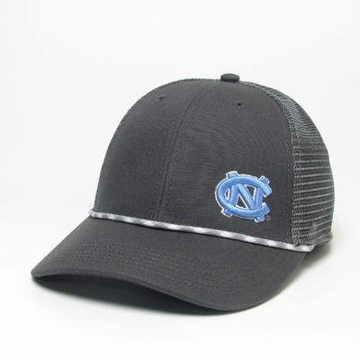 UNC Legacy Men's Lo-Pro Left Hit Rope Adjustable Trucker Hat DK_GREY