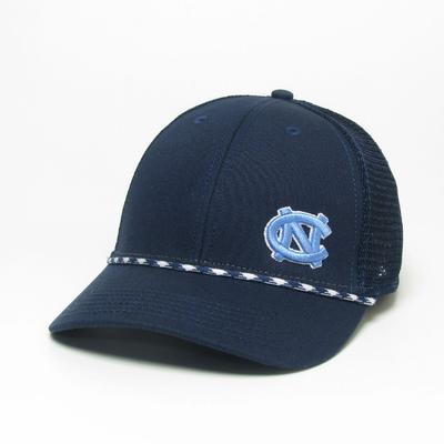 UNC Legacy Men's Lo-Pro Left Hit Rope Adjustable Trucker Hat
