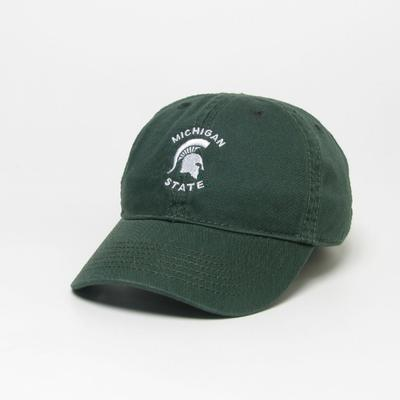 Michigan State Legacy Toddler Arch Spartan Logo Twill Adjustable Hat DK_GREEN