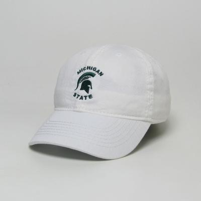 Michigan State Legacy Toddler Arch Spartan Logo Twill Adjustable Hat WHITE