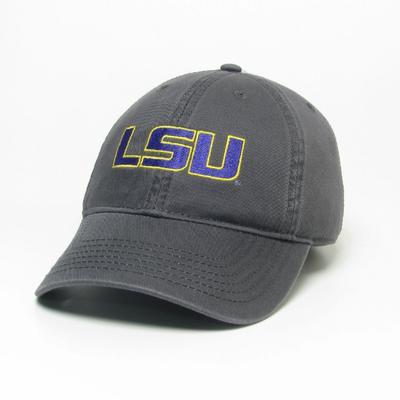 LSU Legacy Youth LSU Logo Twill Adjustable Hat DARK_GREY