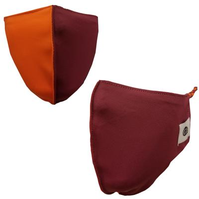 Solid Maroon and Maroon Orange Pomchies 2 Pack Face Masks