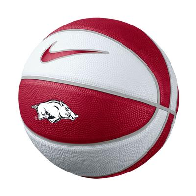 Arkansas Nike Mini Rubber Basketball
