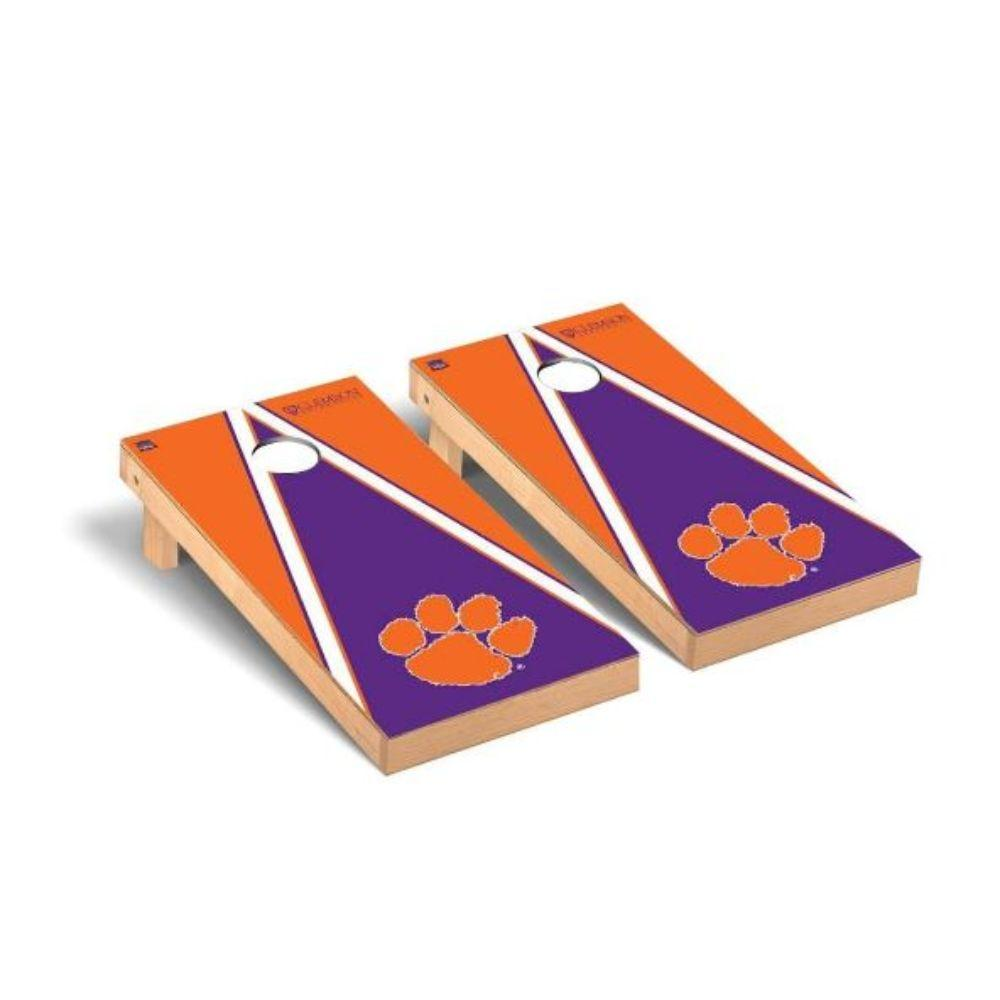 Clemson Paw Triangle Cornhole Set