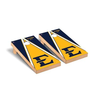 ETSU Block E Triangle Cornhole Set