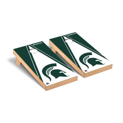 Michigan State Spartan Triangle Cornhole Set