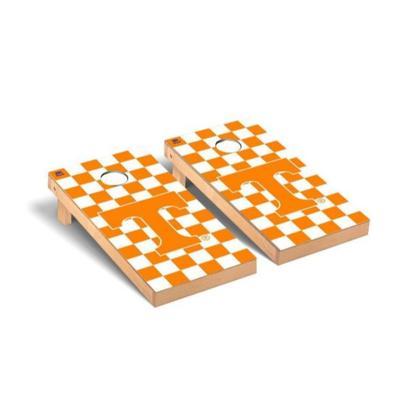 Tennessee Power T Checkered Cornhole Set