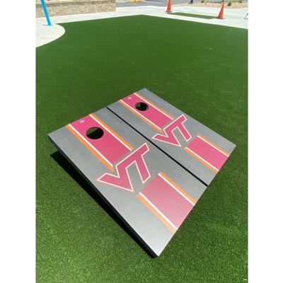 Virginia Tech Onyx Stripe Cornhole Set