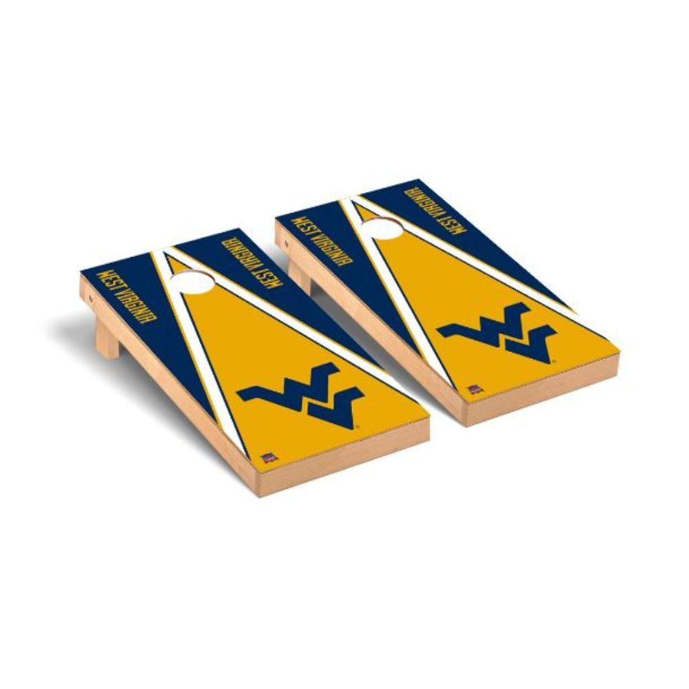 West Virginia Triangle Cornhole Set