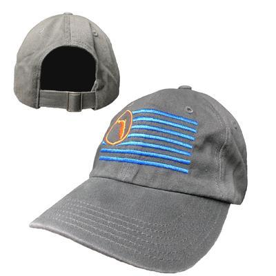 Florida Charcoal Adjustable Flag Hat