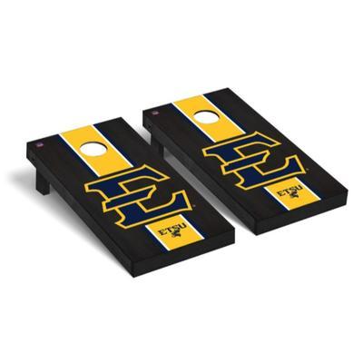 ETSU Block E Onyx Stripe Cornhole Set