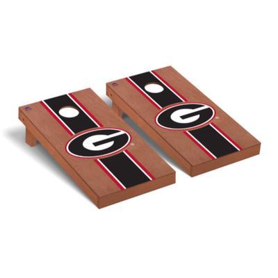 Georgia G Rosewood Stripe Cornhole Set