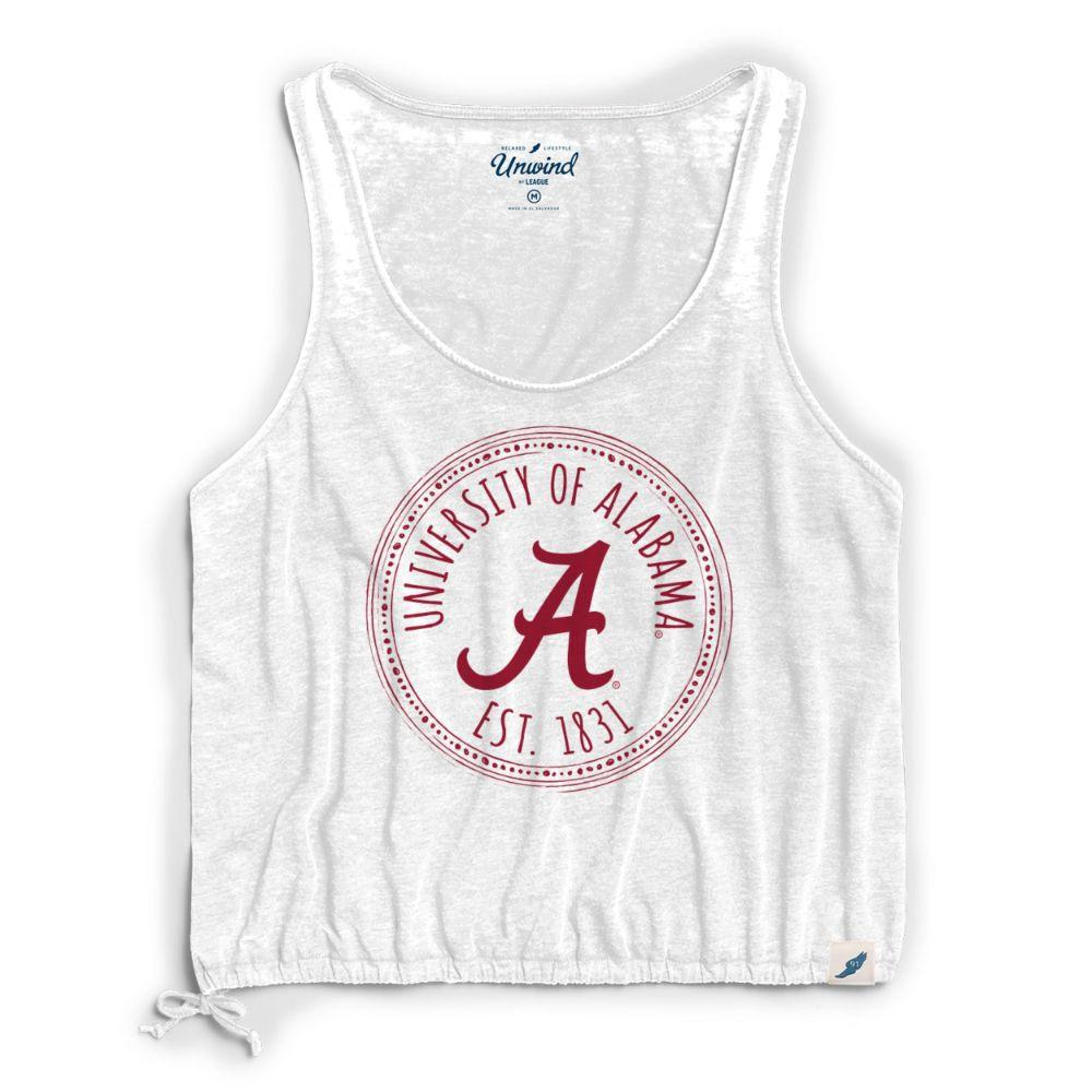 Alabama League Women's Burnout Southern Pastime Drawstring Tank