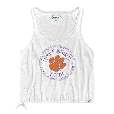 Clemson League Women's Burnout Southern Pastime Drawstring Tank
