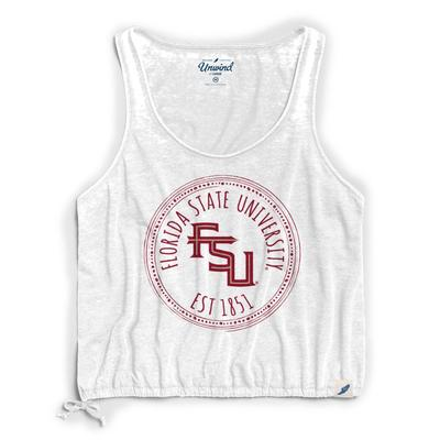 Florida State League Women's Burnout Southern Pastime Drawstring Tank