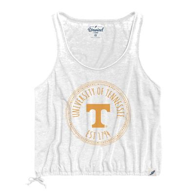 Tennessee League Women's Burnout Southern Pastime Drawstring Tank
