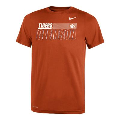 Clemson Nike Youth Legend Sideline Short Sleeve Tee